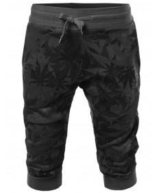 Men's New Stylish Casual Printed Jogger Harem Crop Pants