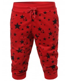 Men's New Stylish Super Comfortable Star Printed Jogger Harem Crop Pants