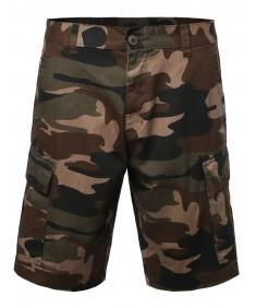 Men's 100% Cotton Camo Camouflage Cargo Shorts