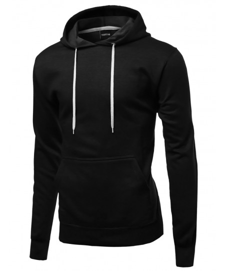 Men's Quality Material Basic Casual Pullover Hoodie