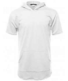 Men's Basic Short Sleeve Hooded Shirt