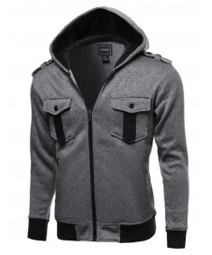 Men's Fine Quality Comfortable Fleece Hooded Jacket Coat
