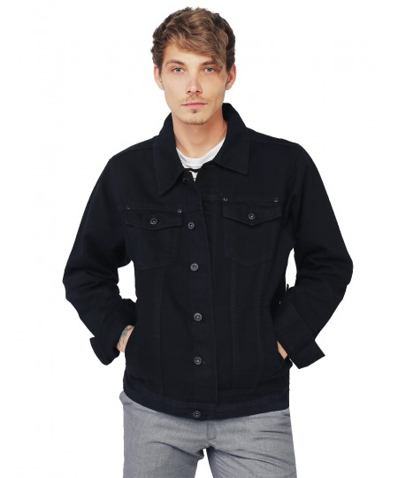 Men's Casual Nicely Stone Washed Denim Trucker Jacket