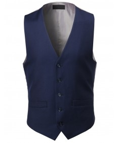 Men's Contemporary Classic Fit Stylish Contrast Vest