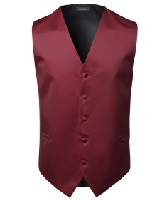 Men's Classic Solid Suit Vest In Various Colors