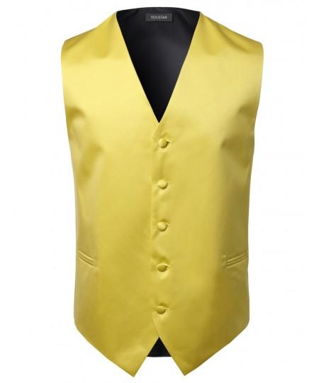 Men's Classic Solid Suit Vest In Various Colors