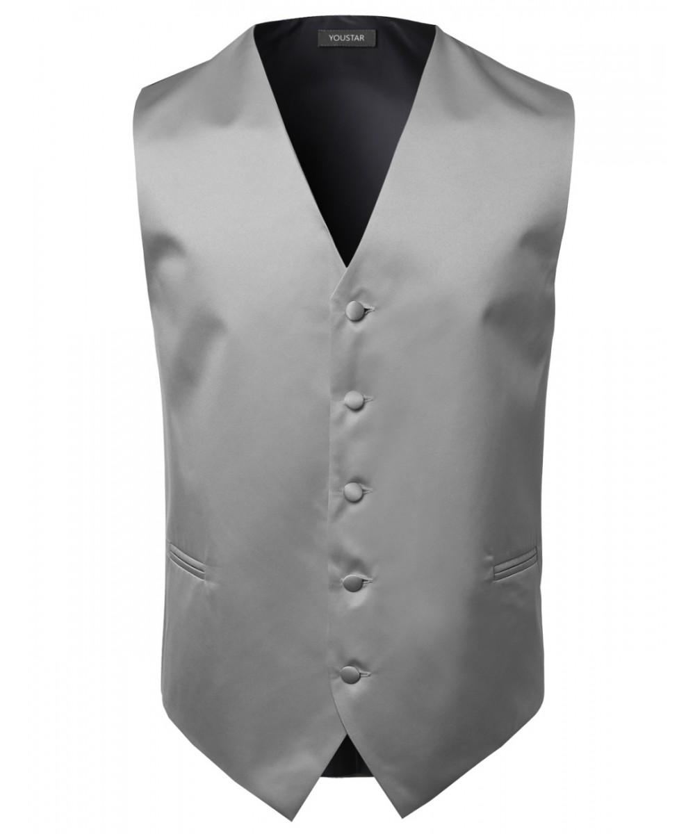 Men Classic Solid Wedding Formal Suit Tuxido Dress Vest ...