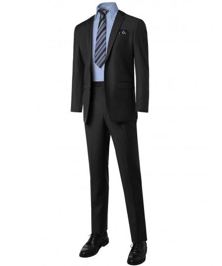 Men's Contemporary Classic Regular Fit 2Pcs Suit Blazer &Dress Pants