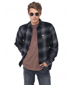 Men's Long Sleeve Casual Plaid Buttondown Shirt