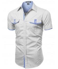Men's Casual Short Sleeve Buttondown Shirts