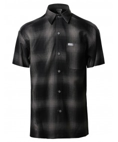 Men's Short Sleeve Casual Plaid Buttondown Shirt