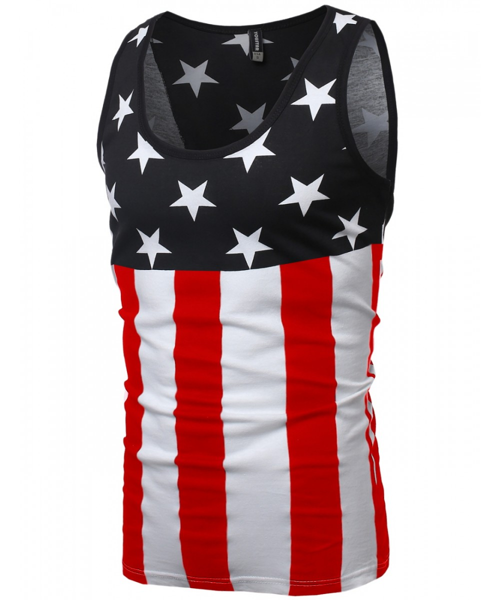 869c4371ed9 Men s American Flag Patriotic Sleeveless Tank Tops - FashionOutfit.com