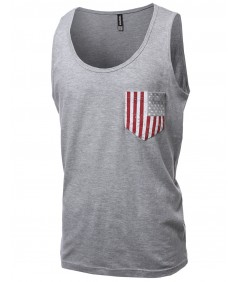 Men's Scoop Neck Sleeveless Tank Tops