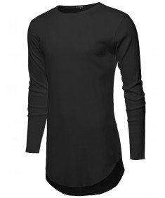 Men's Ribbed Longline Long Sleeve Thermal