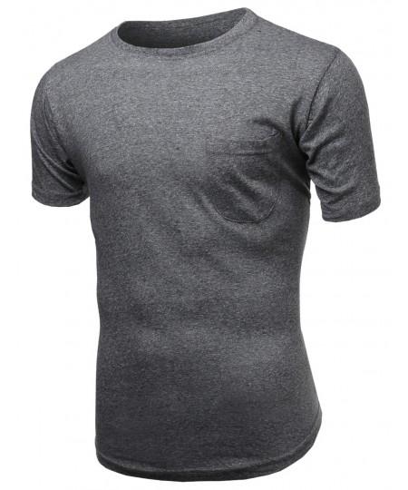 Men's Curved-Hem Mens Scoop Short Sleeve Tee
