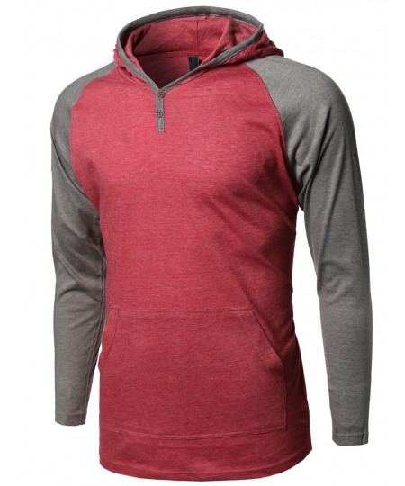 Men's Baseball Raglan Long Sleeve Hoodie2