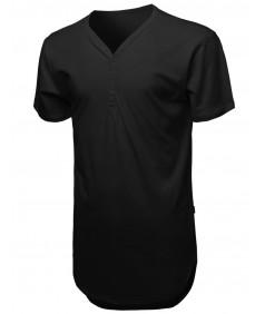 Men's Longline With Asymmetrical Hemline T-Shirt