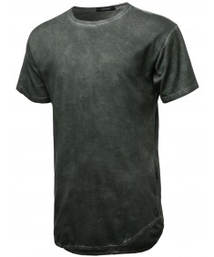 Men's Blended Longline With Asymmetrical Hemline T-Shirt
