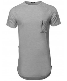 Men's Short Sleeve Quilted Pocket T-shirts