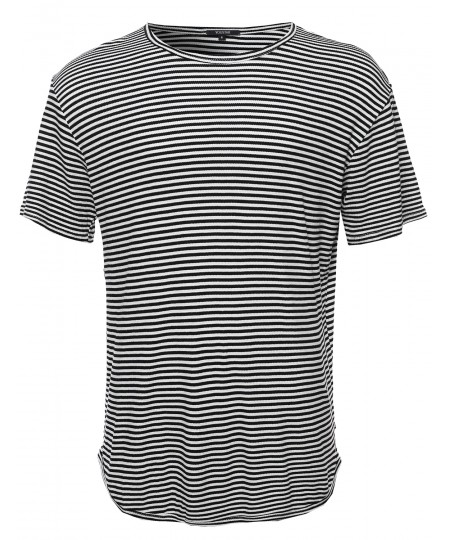 Men's Basic Lightweight Crew Neck Tee Shirt