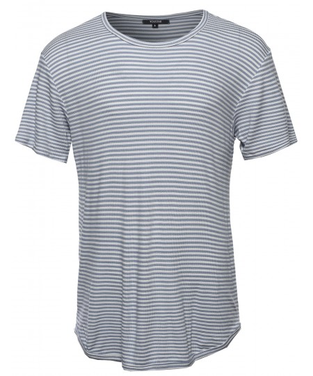 Men's Basic Lightweight Crew Neck Tee Shirt