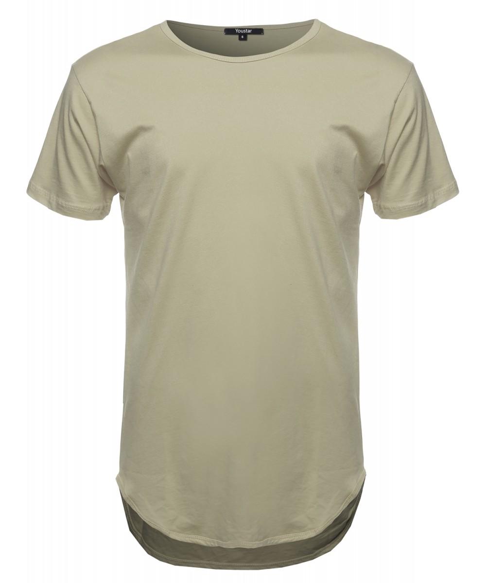3d7676d07772 Men's Short Sleeve Long Length Tee - FashionOutfit.com