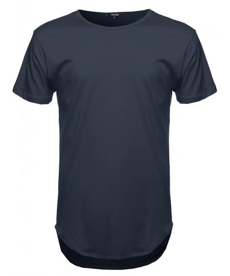 Men's Short Sleeve Long Length Tee
