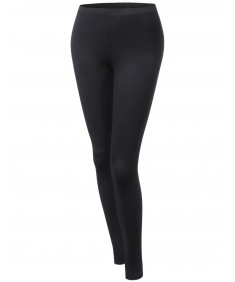 Women's Cotton Spandex Full Length Good Strechy Legging