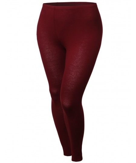 Women's Cotton Spandex Full Length Good Strechy Legging With Various Colors