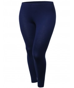 Women's Cotton Spandex Full Length Good Strechy Plus Size Legging