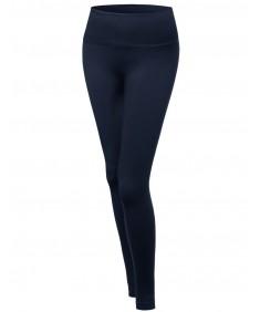 "Women's High Quality Seamless 5"" Elastic Waist Band Plus Size Legging"