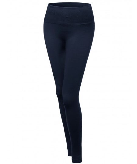 "Women's High Quality Seamless 5"" Elastic Waist Band Plus Size Legging"