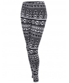Women's Aztec Print Pattern Tight Leggings