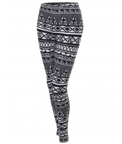 Women's Aztec Print Pattern Tight Leggings