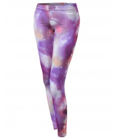 Women's Galaxy Print Tight Leggings