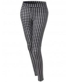 Women's Pinwheel Pattern Print Tight Leggings
