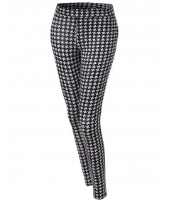Women's Pinwheel Pattern Print Tight Leggings