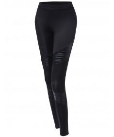 Women's Zebra Panel Contrast Leggings