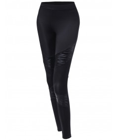 Women's Zebra Panel Contrast Leggings