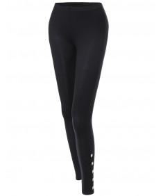 Women's Side Studded Tight Leggings