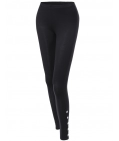 Women's Side Studded Tight Leggings