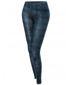 Women's Skull Print Tight Leggings