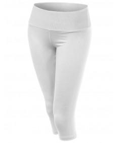 Women's Slim Fit Basic 3/4 Length Capri Workout Yoga Pants