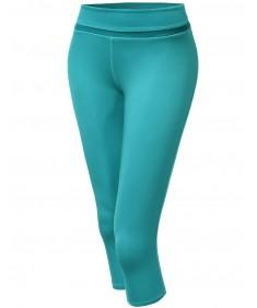 Women's 3/4 Mesh Contrast Workout Yoga Pants