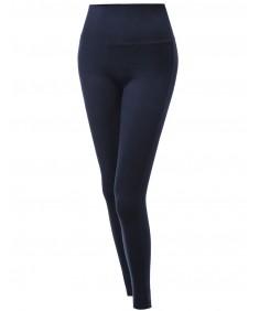 Women's Full Length Fold Over Yoga Pants