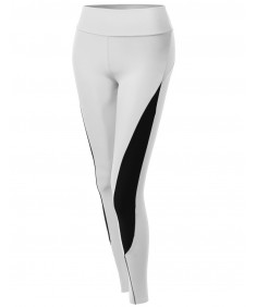 Women's Side Panel Color Contrast Cycling Legging Pants