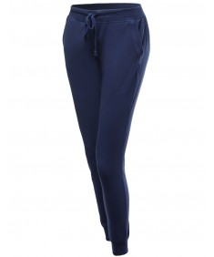 Women's Hot Trend French Terry Drawstring Elastic Banded Jogger Pants