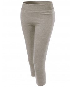 Women's Basic 3/4 Solid Workout Yoga Pants
