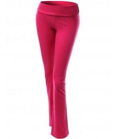 Women's Basic Solid Flare Bootleg Workout Yoga Pants
