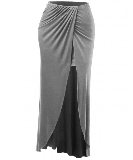 Women's Full Length Crossover Long Maxi Skirts